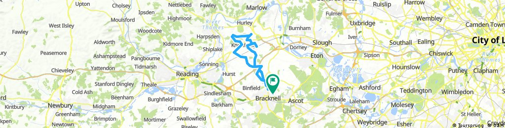 Bracknell to crazies hill and know hill