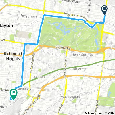 Brief bike tour from St. Louis to Maplewood