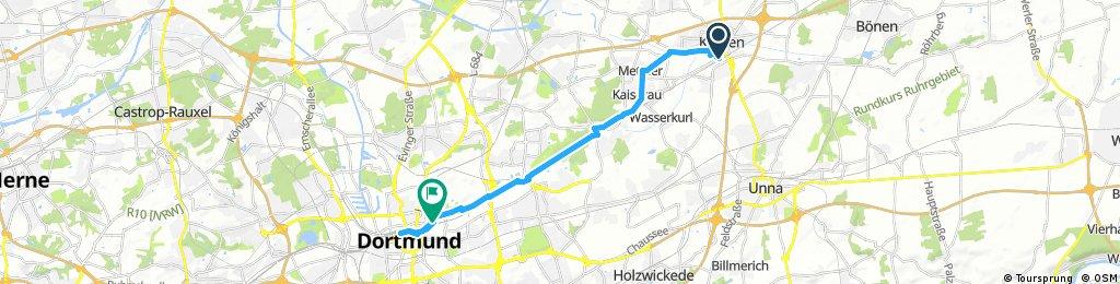 Kamen - Dortmund über Brackeler Str. 07.05.17