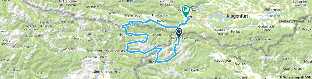 Julian Alps 4/5-day touring track