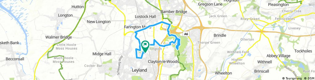 bike tour through Leyland