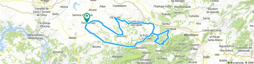 Torrebesses - Vimbodi 139Km. 1900d+