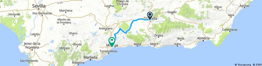 Granada to Malaga Via Zafaraya