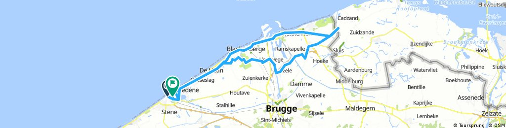 Actual Oostende Route