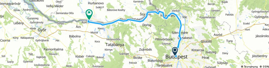 Day 1 Budapest to Komarno
