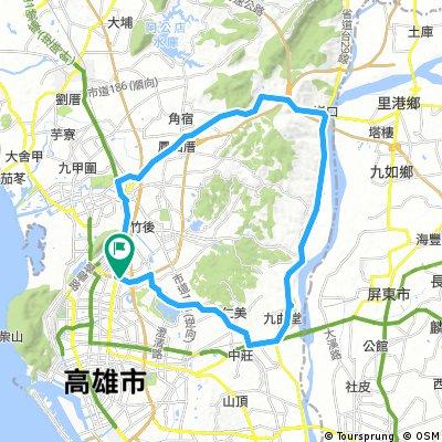 與同學的臨時約騎-Long bike tour through Kaohsiung City