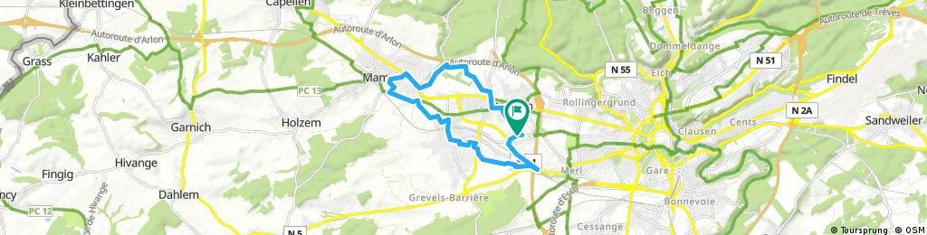 Run From Basicfit Strassen Mamer Bertrange Bikemap Deine Radrouten