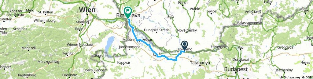 Day 2  Komarno to Bratislava