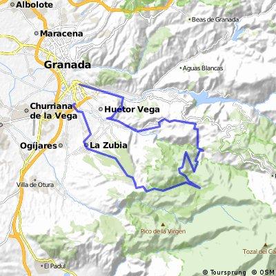 GR - Cortijuela - El Purche - Monachil - GR (x la límite)