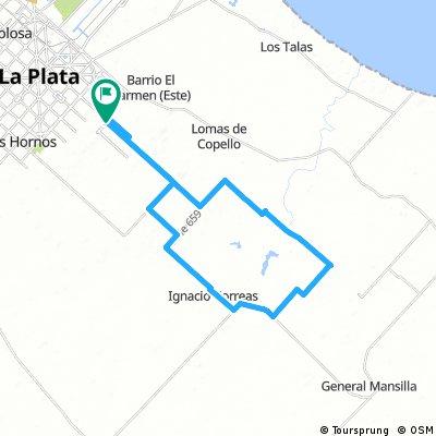 Vuelta chica de Correas por camino Vacalín