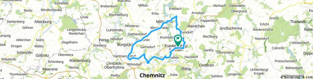 13. Frankenberger Radlersonntag 2017 - 65 km Strecke