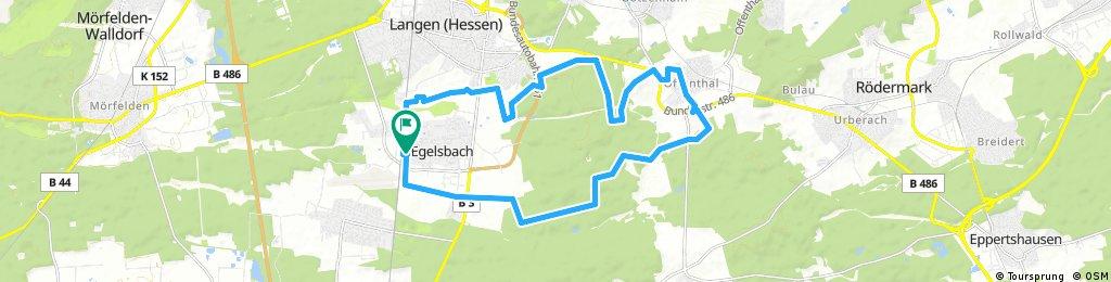Rundfahrt von Egelsbach nach Offenthal