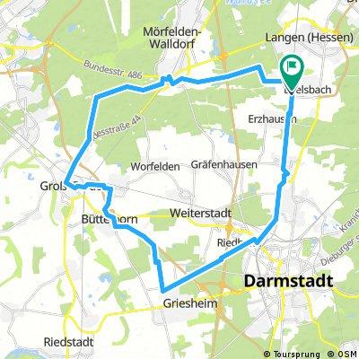 Große Runde von Egelsbach aus Richtung Da-Griesheim