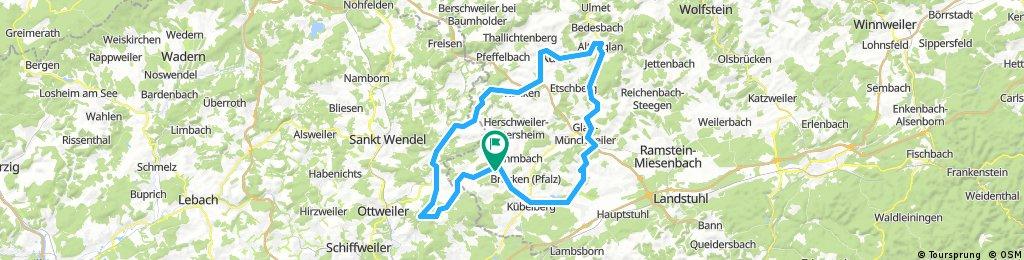 Breitenbach Hangard Marth Kusel Altenglan Glan-Münchweiler Elschbach