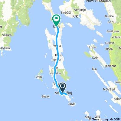 Lange Radrunde von Mali Lošinj nach Cres