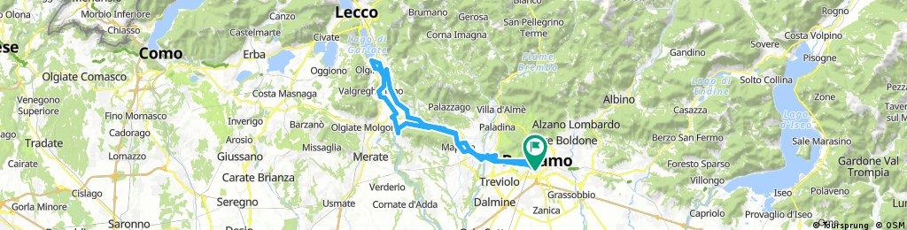 Giro Lago di Olginate da Bergamo