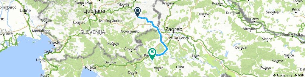 Sevnica - Samobor - Karlovac