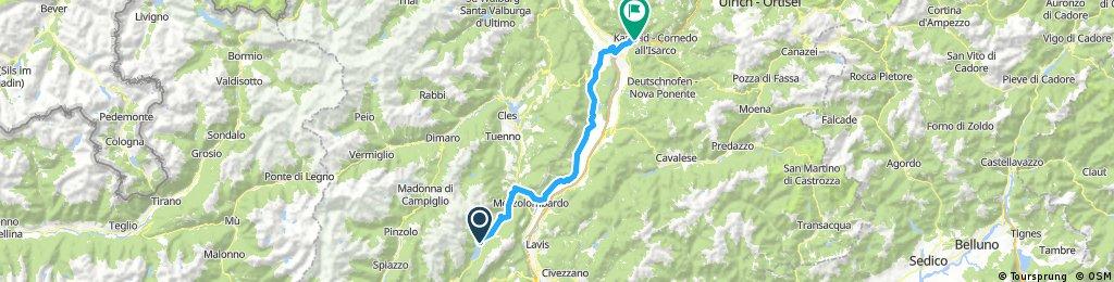 Day 17  Molveno to Bolzano