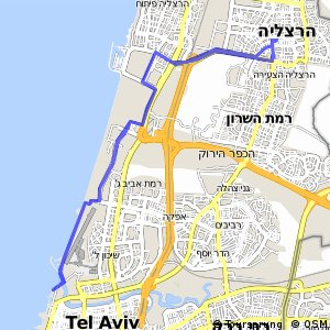Cycling routes and bike maps in and around Herzliya Bikemap Your