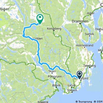 Lang rute til Storaas