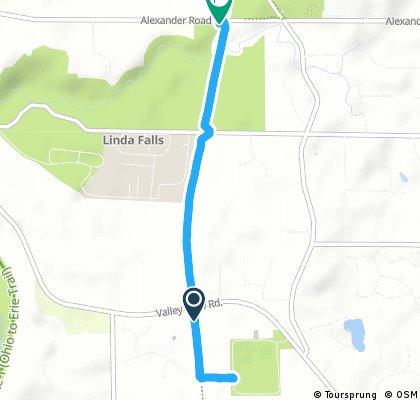 Short bike tour from Northfield to Walton Hills