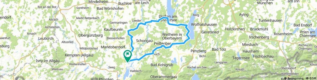 TTT17 zum Starnberger &_ Ammer See 140 Km 1000 Hm(1)