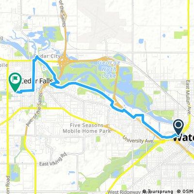 Waterloo To Cedar Falls