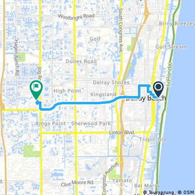 Map Of Delray Beach Florida.Cycling Routes And Bike Maps In And Around Delray Beach Bikemap