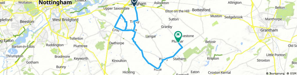 Lengthy ride through Melton