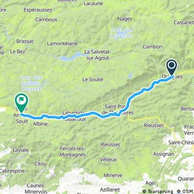 Etappe 02 Olargues - Saint Amans Soult