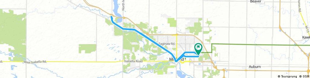 Long bike tour through Midland