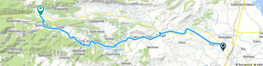 Perpignan-Caudies via La Jau