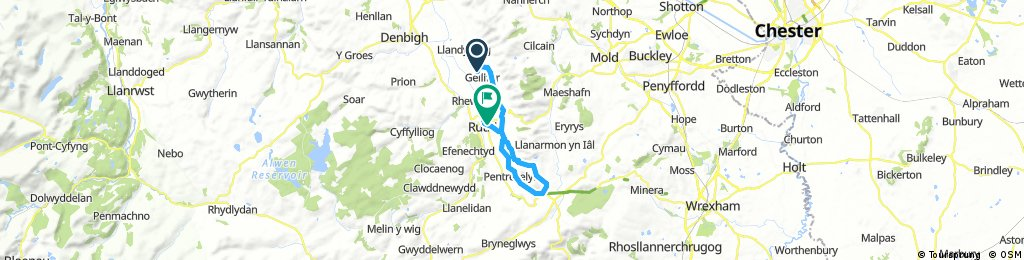 ride from Gellifor to Ruthin