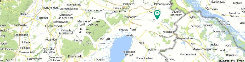 2 x Leithagebirge mit starkem Wind