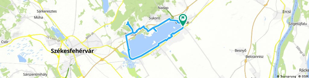 Lengthy ride through Velence
