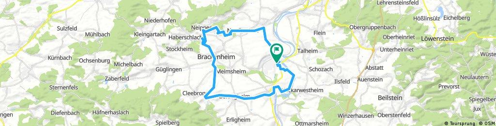 Lauffen - Kirchheim - Bönnigheim - Tripstrill - Botenheim - Hörnle - Lauffen