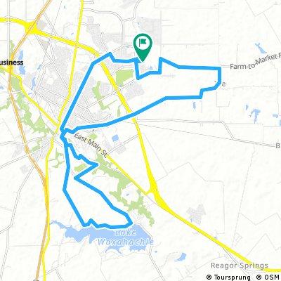 Long bike tour through Waxahachie