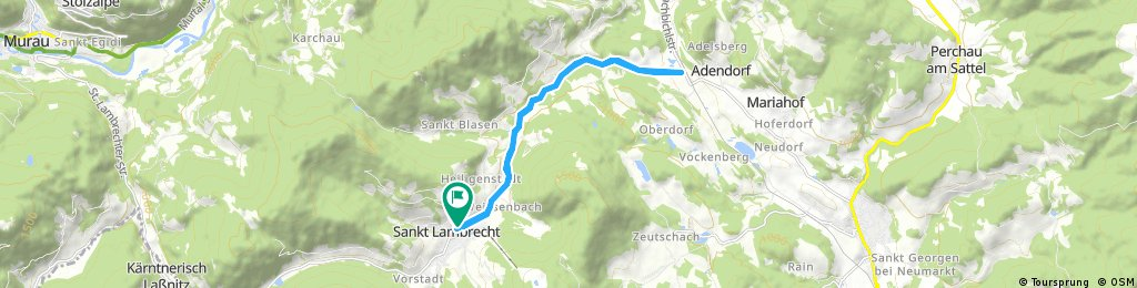 bike tour through St. Lambrecht