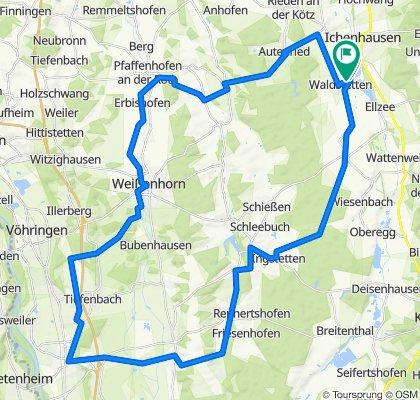 Radltour Waldstetten-Illertissen-Weißenhorn-Waldstetten