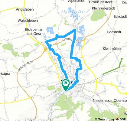 Lonely rider round Erfurt