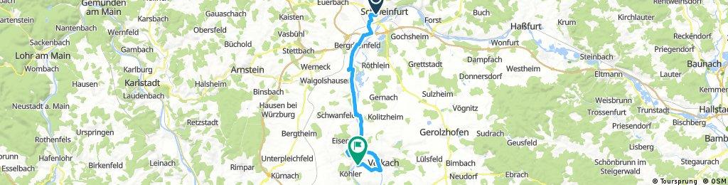 5.TagSchweinfurt bis Nordheim
