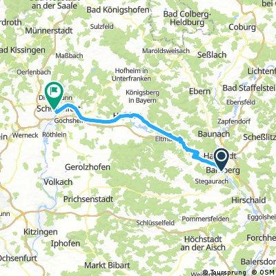 4.Tag Mainradweg Bamberg -Schweinfurt