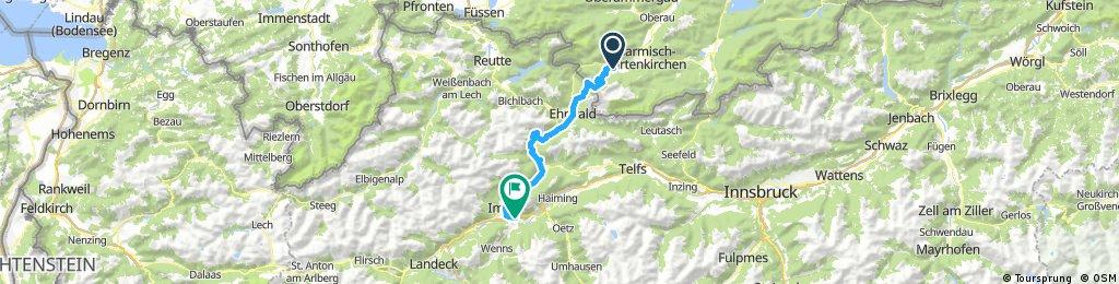 Alpenüberquerung 1/5 Grainau - Imst