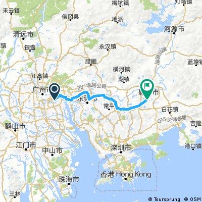 广州到惠州