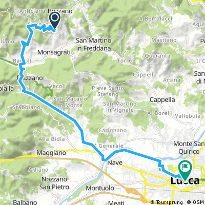 Villa - Lucca (hátsó úton)