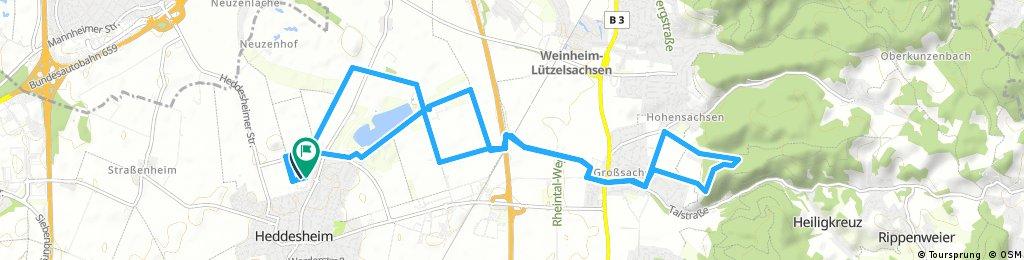 Ausfahrt durch Heddesheim