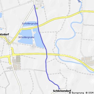 Radweg Brunn im Felde - Schlickendorf