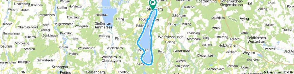 Starnberg Ufer Rundfahrt 50 KM