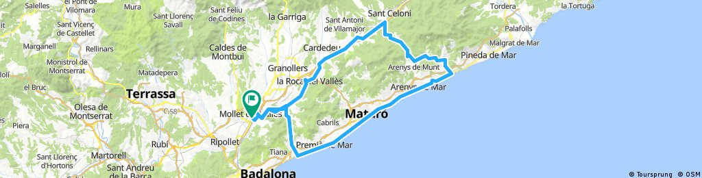 (B)Mollet-Llavaneres-Sant Pol-Vallgorguina