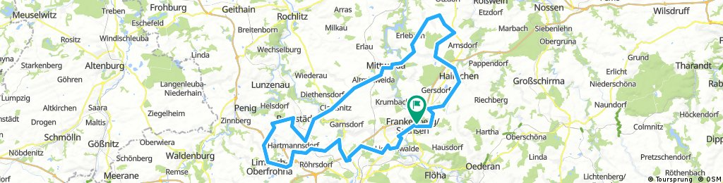 13. Frankenberger Radlersonntag 2017 - 100 km Strecke (neu)